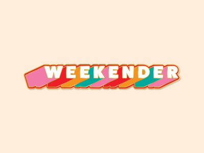 The Weekender Pin pin enamel type art type design pin design enamel pin enamelpin design typography