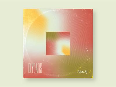 10x18 02. 10 Years typography art typography gradient illustration design album album art album cover design album artwork album cover