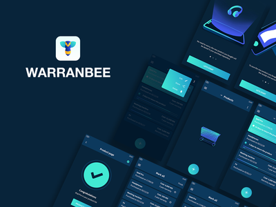 Warranbee Project on Behance drawing motion design motion illustrations illustrator behance warranty warranbee ux ui logo app product design motion graphic flat vector animation branding design illustration
