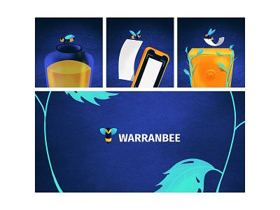 Warranbee Project product design logo minimal ui design logo design flat vector design illustration branding