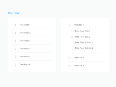 Tree list toogle