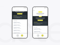Swipe yellow black UI mobile