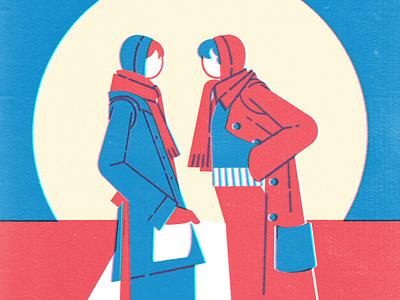 Vintage fashion IV fashion illustration procreate 70s fashion 70s vintage vintage fashion fashion silkscreen color drawing illustration