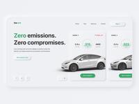 Rent a Tesla - Website Concept | Neumorphism