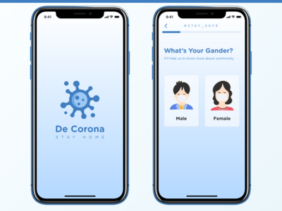 De Corona - COVID-19 App - Sign up mobile ui mobile ui ux staysafe stayhome app health covid covid-19