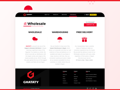GHATATY Website - Wholesale ui ux icons contact us website design web design website web ghataty ghataty