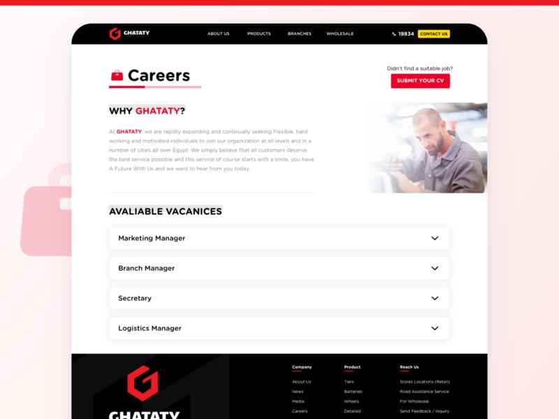 GHATATY Website - Careers Page cv vacancies web ui ux careers page careers