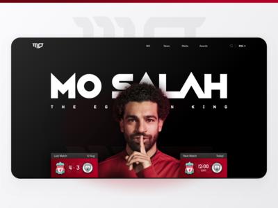 Mo Salah Website (Unofficial) - Header web ui website egyptian egypt liverpool player football mo salah