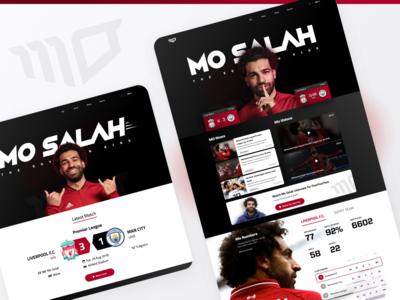 Mo Salah Website (Unofficial) - Landing page egyptian egypt liverpool videos news website salah player football mo salah