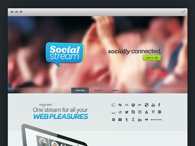Social Stream - Home web social networking ux ui homepage