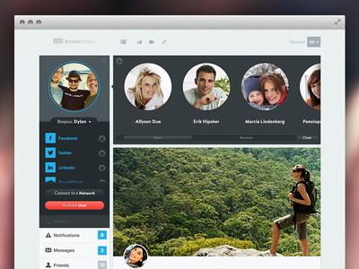 Social Stream - Profile web social networking ux ui homepage