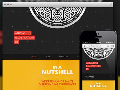 TEC Homepage mobile experiential ux ui homepage