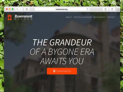 Rosemount Museum ui ux museum website html design clean fresh simple front-end web