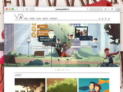 Yankee Peddler clean simple video california los angeles development design web animation front-end ux