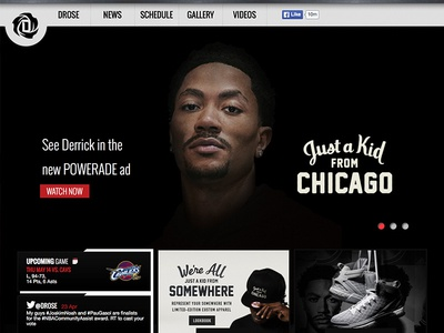NBA MVP Derrick Rose drose web basketball development ux