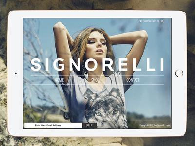 Shop Signorelli development women clothing elegant simple clean fashion front-end design ux ui