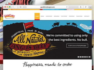 Good Times Burgers restaurant front-end food web development ux