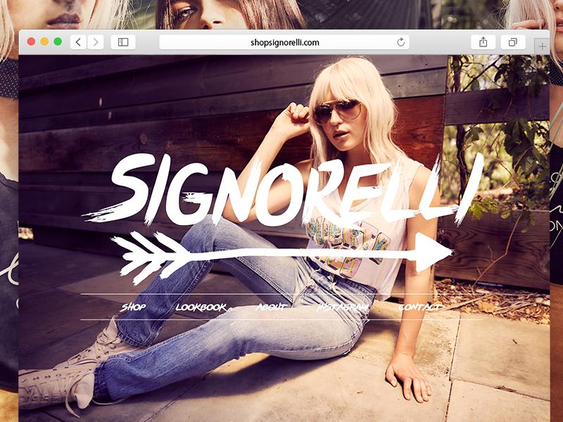 Shop Signorelli Facelift ashley tisdale web fashion clothing female girls women store shop development design