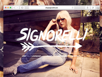 Shop Signorelli Facelift ashley tisdale web fashion clothing female girls women store shop development design