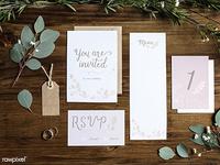 Wedding Card mockups