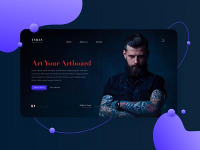 Tyran Tattoo Studio(Landing Page)