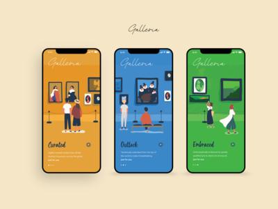Galleria - Museum App Onboarding UI Concept
