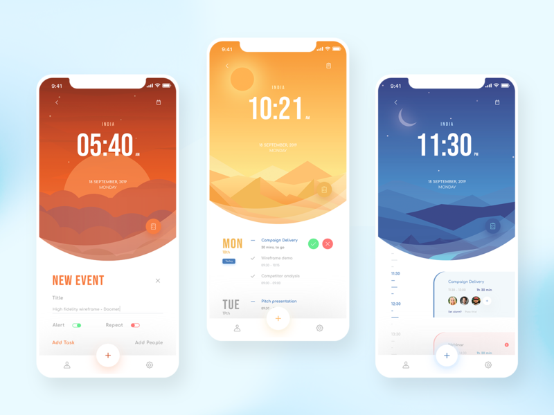 Time Scheduler UI Concept adobexd mobileapp appdesign