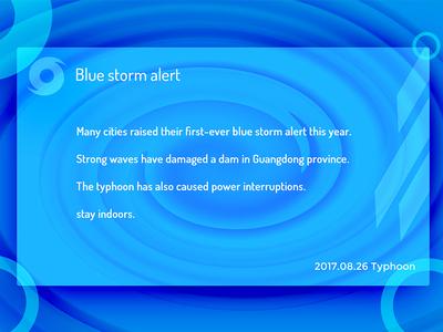 Blue storm alert