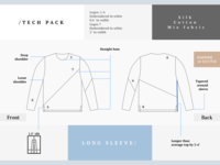 Tech Pack For Long Sleeve
