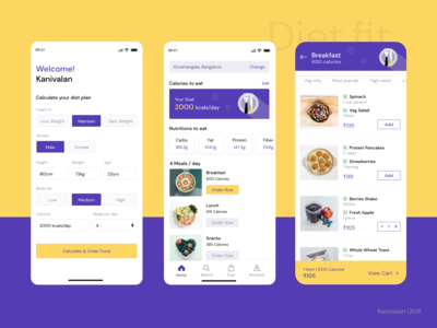 Food delivery app for diet eaters