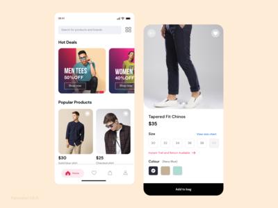 Shopping UI