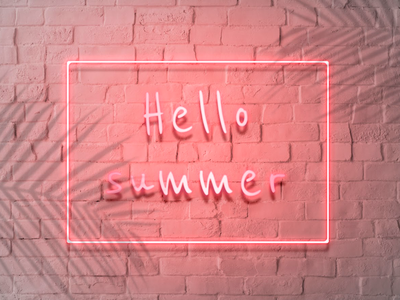 Hello summer neon sign