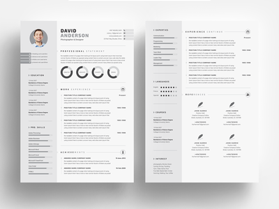 3 Pages Clean Resume/CV Template