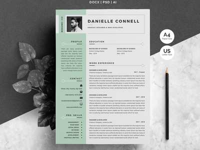Word Resume Template & Cover Letter infographic resume word resume resume cv resume template cv template cv design clean resume minimal resume resume mac pages