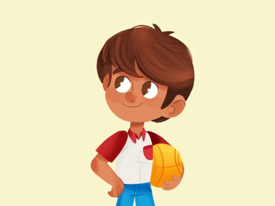 Boy Character editorial illustration illustration procreate childrens book multicultural characterdesign poc