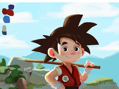 Goku sunnyday illustration character design illus characterdesign characters goku