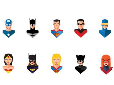 Avatars Superheros  supeheroes supehero marvel avatar icon illustration bold vector art comics