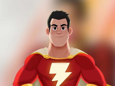 Shazam! red comics pixar photoshop superhero illustration characterdesign shazam