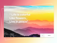 Life is colorful : Landing Page