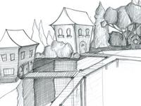 Village on a Cliff