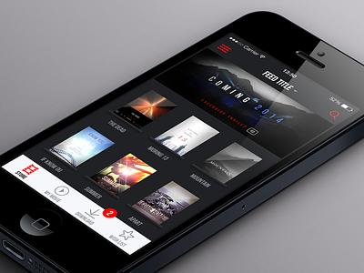 Movonair iphone retina movie app ui userinterface icon bundle cover mockup