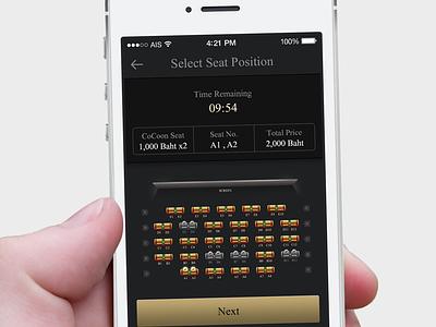 Cinema App iphone ui icon cinema app mockup ios seat plan