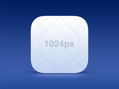 Free! iOS 7 Icon Template ios icon template psd photoshop app