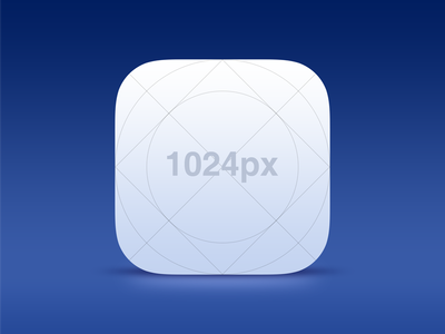 Free! iOS 7 Icon Template ios icon template psd photoshop app