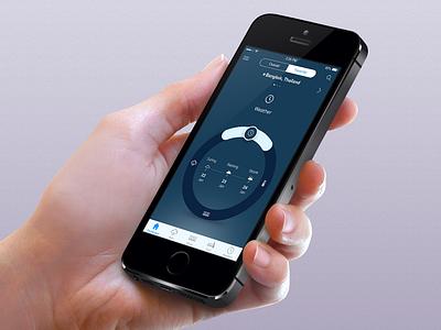 Dashboard weather drag circle wheel scroll ui app mobile