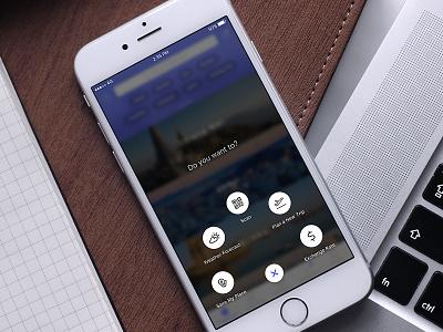 Radial Menu concept app mobile ui bubble circle menu radial