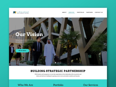 NIle Venice web design graphic design branding uidesign ui design