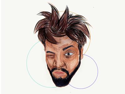 Self Portrait experimental photoshop digital painting