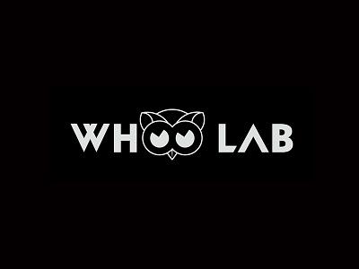 Whoo Lab nature design logo owl vector branding
