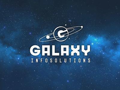 Galaxy mark planets infosolutions galaxy branding logo